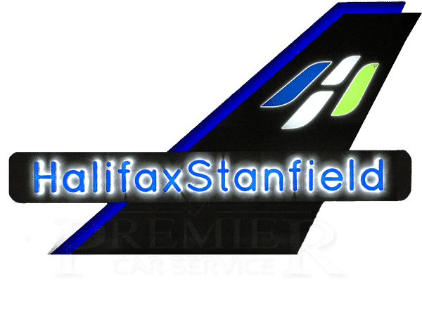 Halifax Stanfield Airport Sign at Night