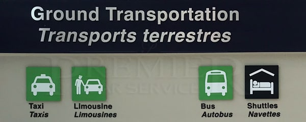 Halifax Airport Ground Transportation sign
