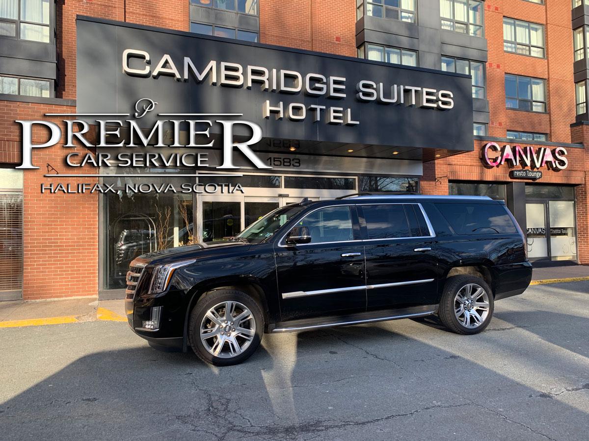 Cambridge Suites Hotel - Premier Car Service - Cadillac Escalade SUV - Halifax Airport Taxi Limo Service