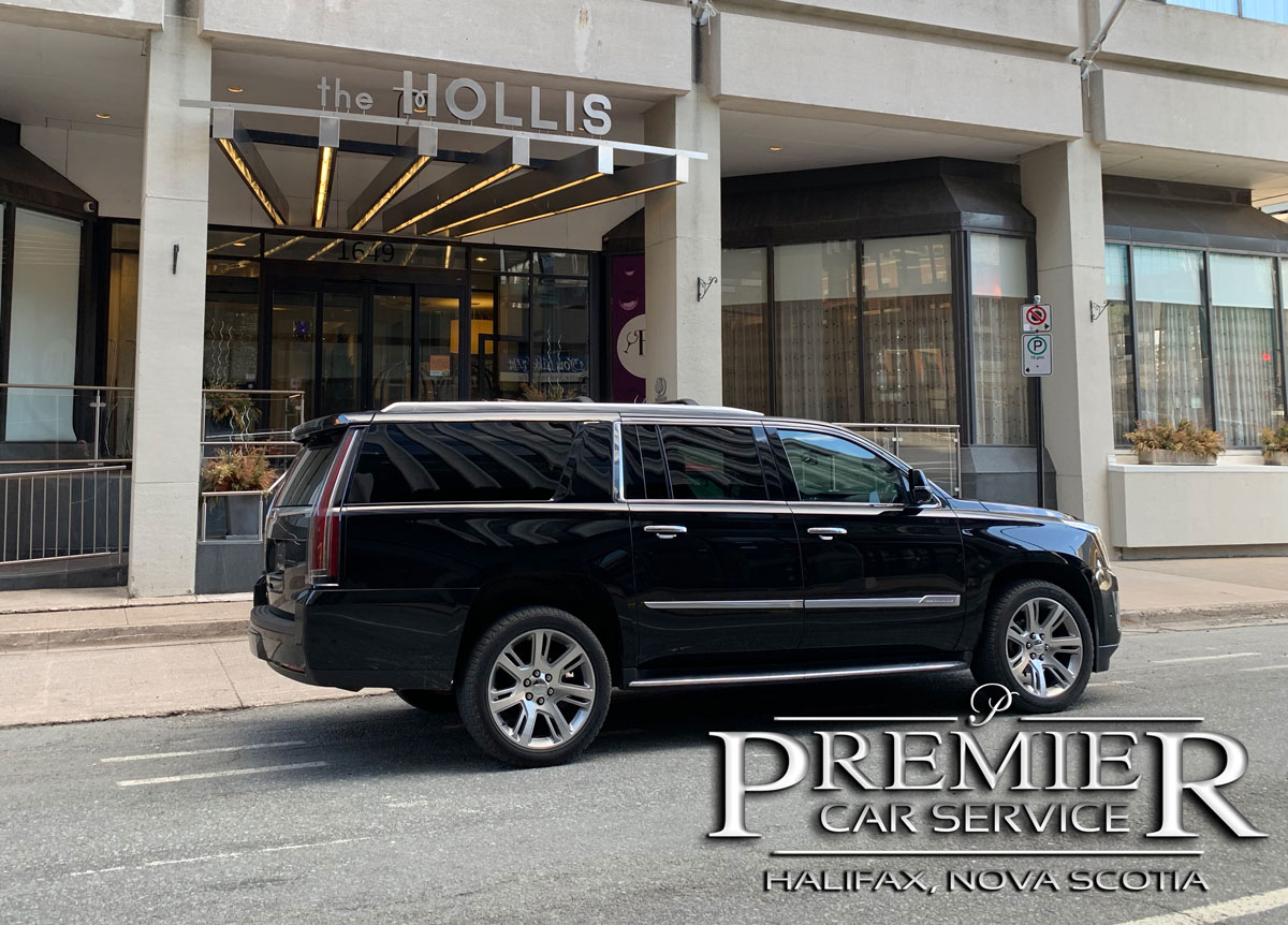 The Hollis Doubletree - Premier Car Service - Cadillac Escalade SUV - Halifax Airport Taxi Limo Service
