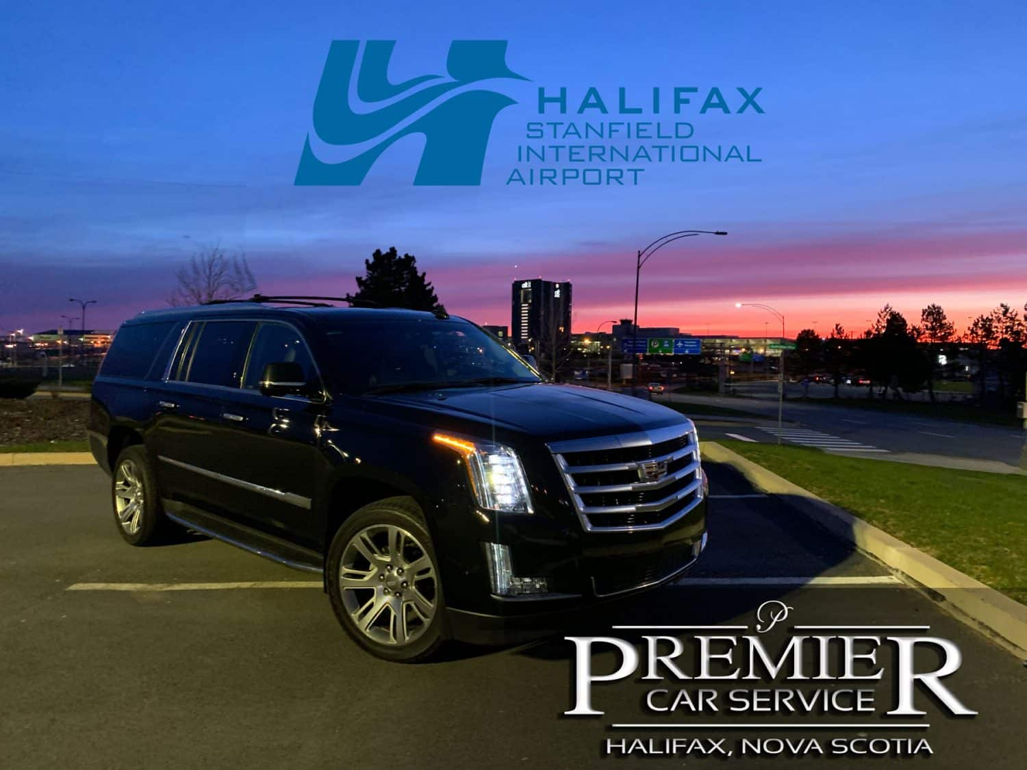 Premier Car Service Cadillac Escalade at Halifax Airport